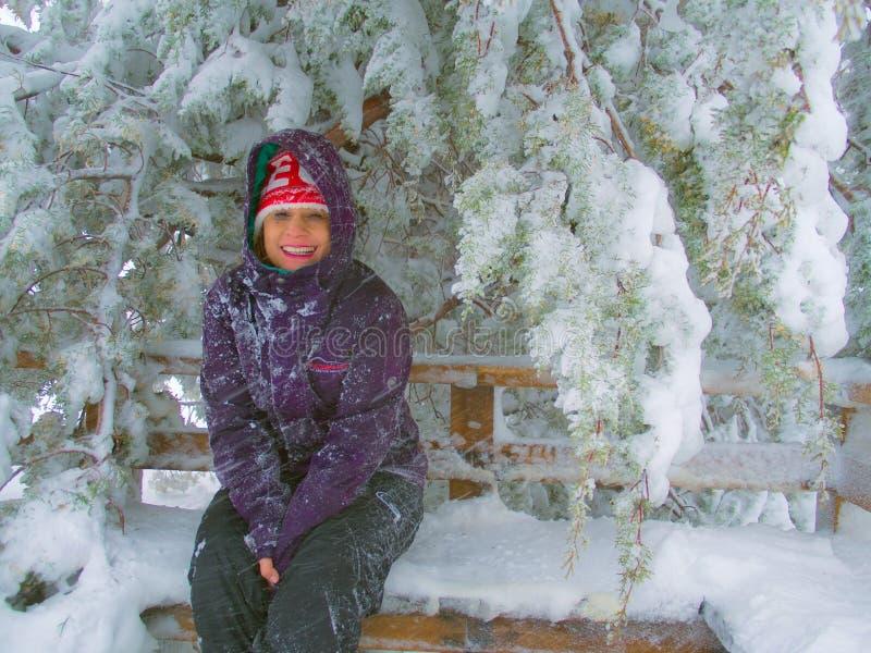 Dziewczyna w zimie obraz stock