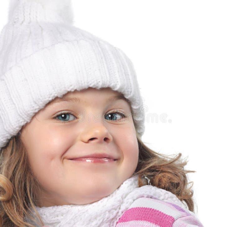 Dziewczyna w zimie odziewa zdjęcia royalty free