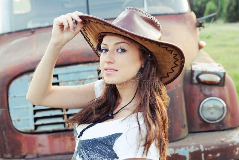 dziewczyna western obrazy royalty free