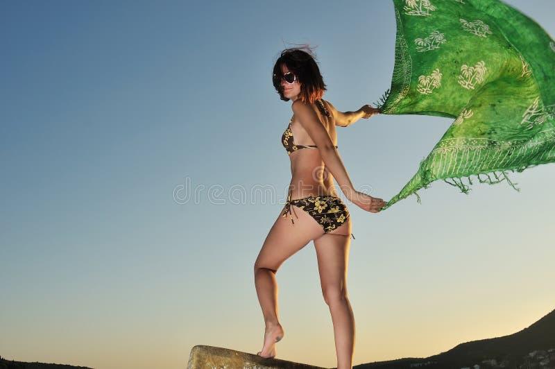 dziewczyna wiatr zdjęcie royalty free