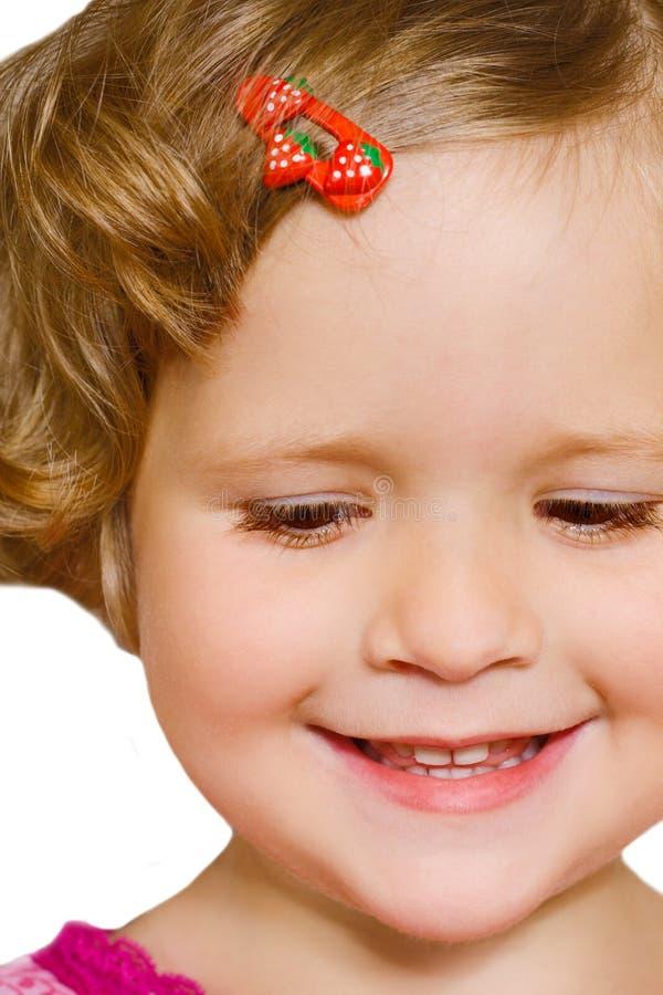 dziewczyna wygląda na mały fotografia royalty free