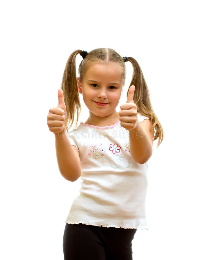 Dziewczyna z aprobatami. fotografia stock