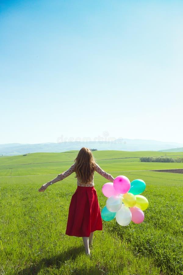 Dziewczyna z balonem obrazy royalty free