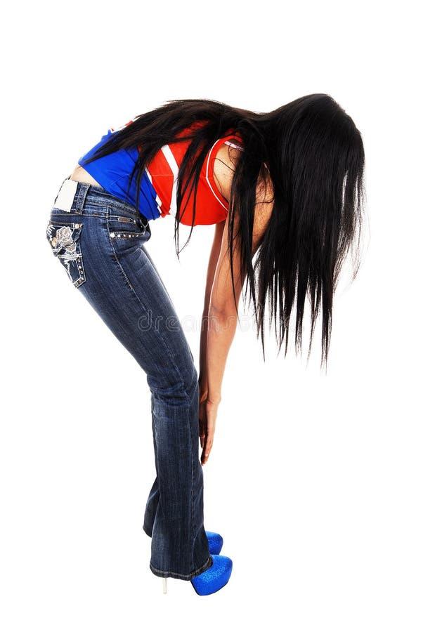 Dziewczyna z długie włosy. obrazy royalty free