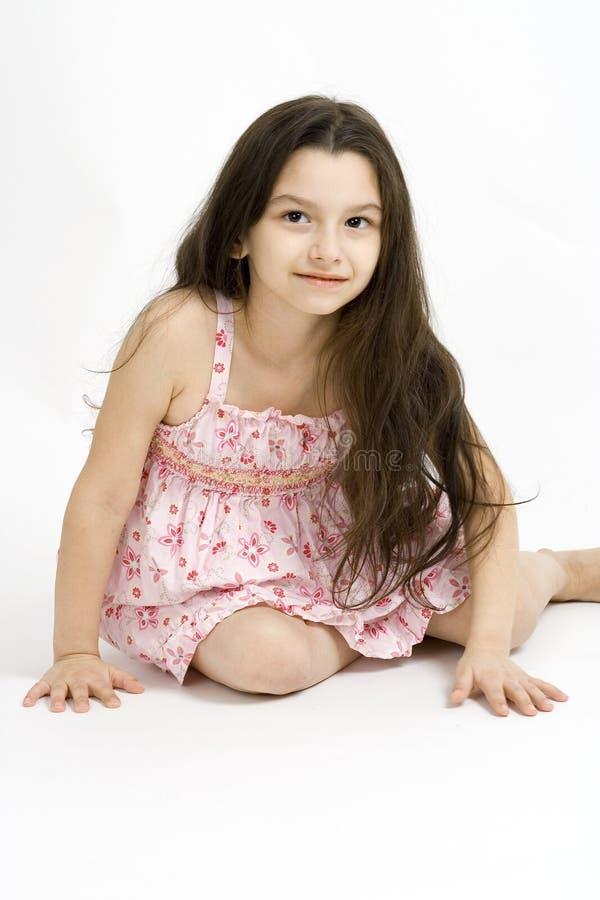 Dziewczyna z długim włosy obraz stock