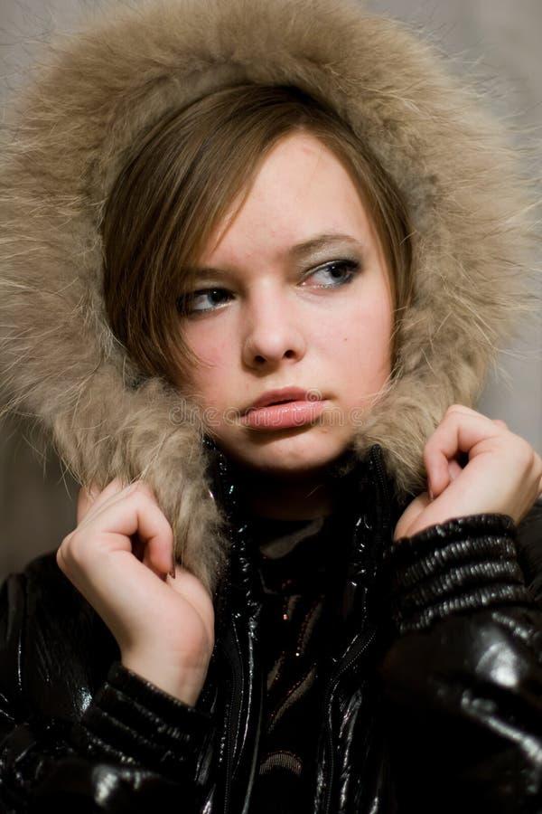 Dziewczyna z futerkiem obrazy stock