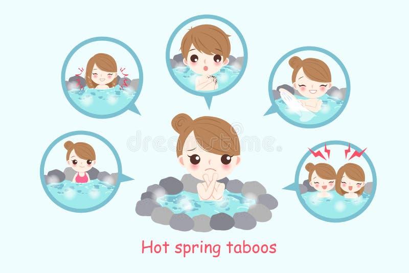Dziewczyna z gorącej wiosny taboos royalty ilustracja