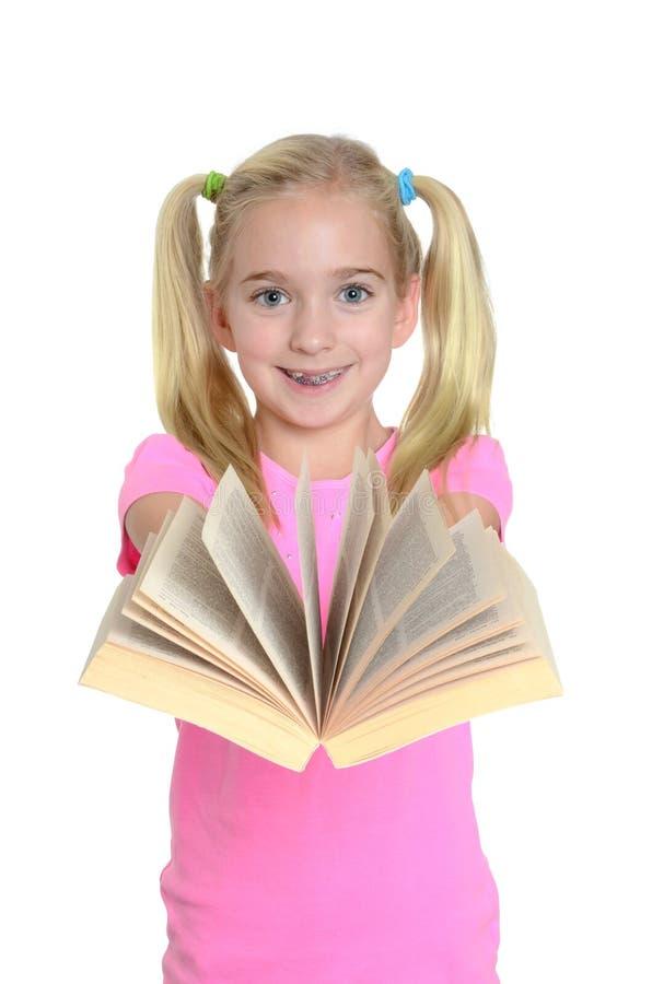 Dziewczyna z książką fotografia stock