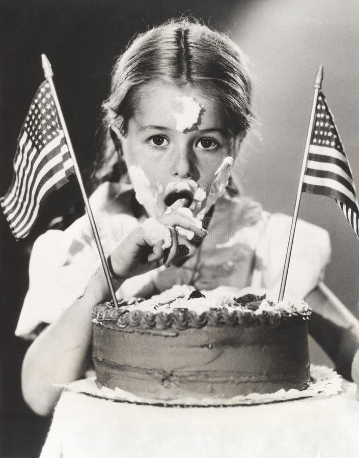 Dziewczyna z Lipa 4th tortem po całym jej twarz zdjęcia royalty free