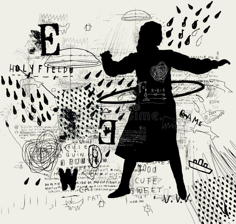 Dziewczyna z obręczem royalty ilustracja