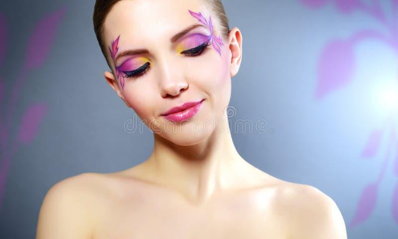 Dziewczyna z pięknym makeup zdjęcia stock