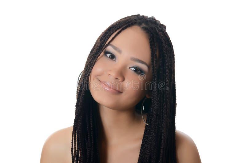 Dziewczyna z pięknym makijażem mulat obrazy royalty free