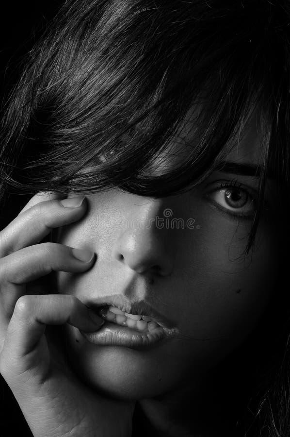 Dziewczyna z Seksowną twarzą zdjęcie royalty free