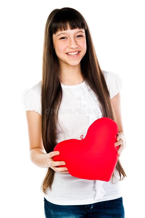 Download Dziewczyna z sercem obraz stock. Obraz złożonej z femaleness - 28966945