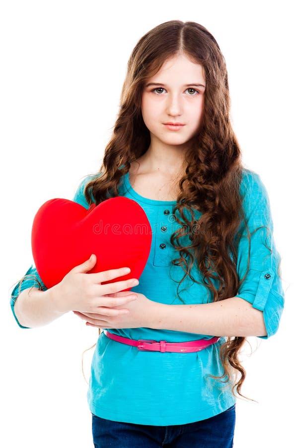 Download Dziewczyna z sercem obraz stock. Obraz złożonej z miłość - 28966957