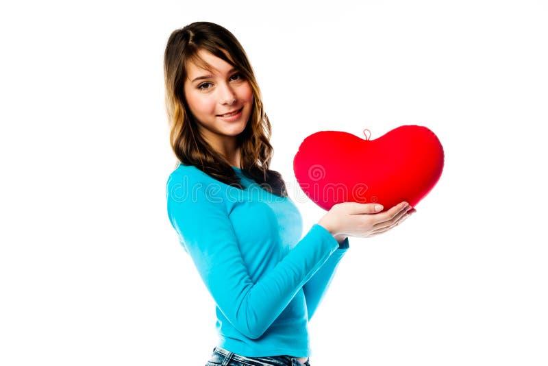 Download Dziewczyna z sercem obraz stock. Obraz złożonej z dziecko - 28966997