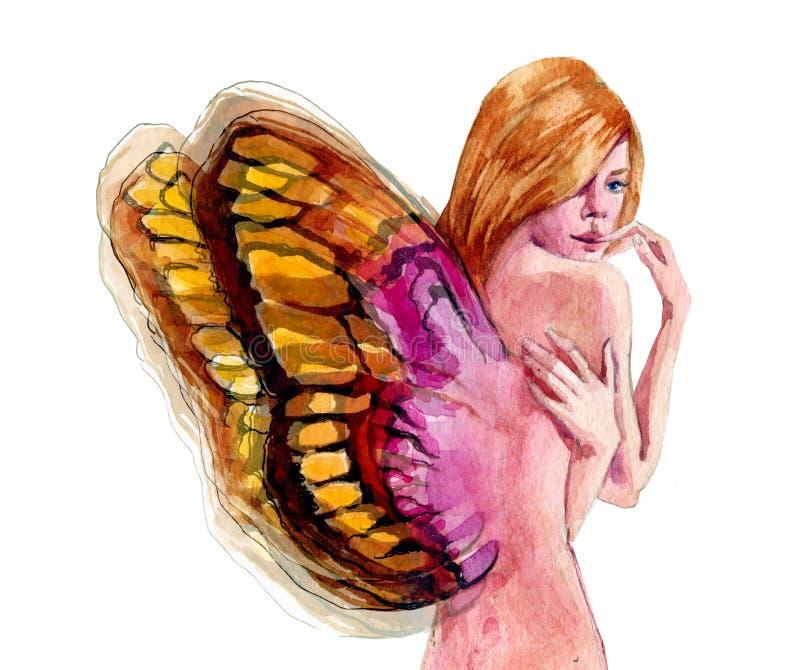 Download Dziewczyna z skrzydłami ilustracji. Ilustracja złożonej z learn - 53780904