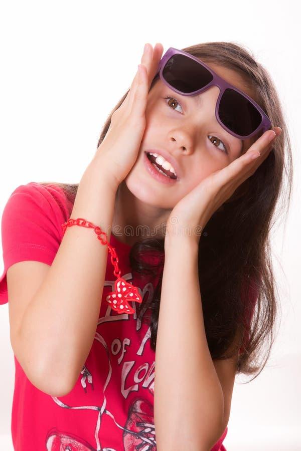 Dziewczyna z szkłami obrazy royalty free