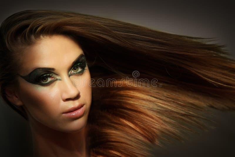 Dziewczyna z włosy. zdjęcie stock