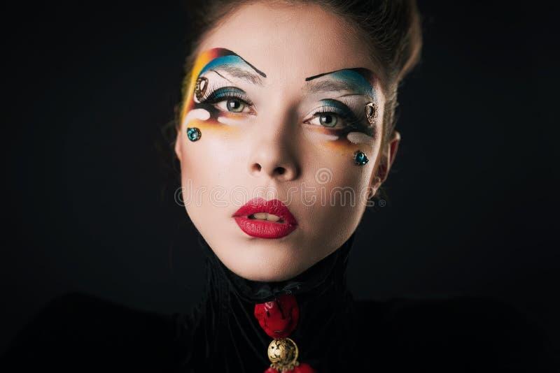 Dziewczyna z włosy i makeup obraz royalty free