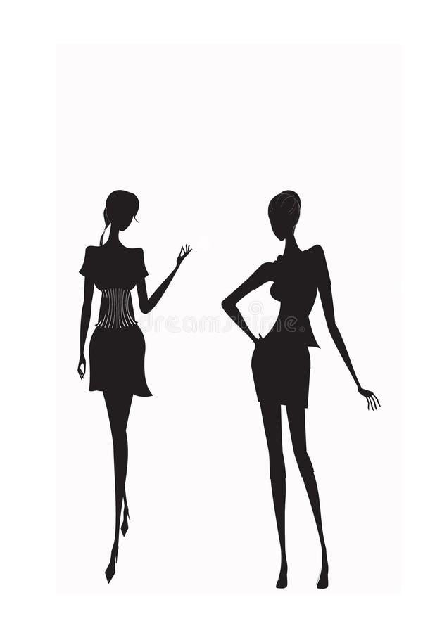 Download Dziewczyna zakupy ilustracja wektor. Ilustracja złożonej z dorosli - 13340210
