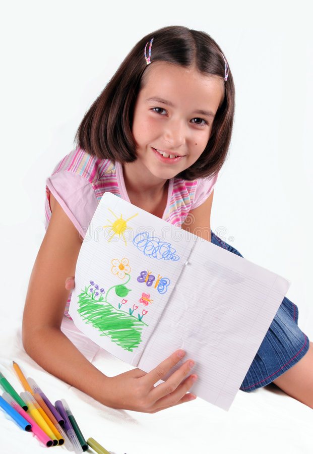 dziewczyna zwracając jej miłe show zdjęcia stock