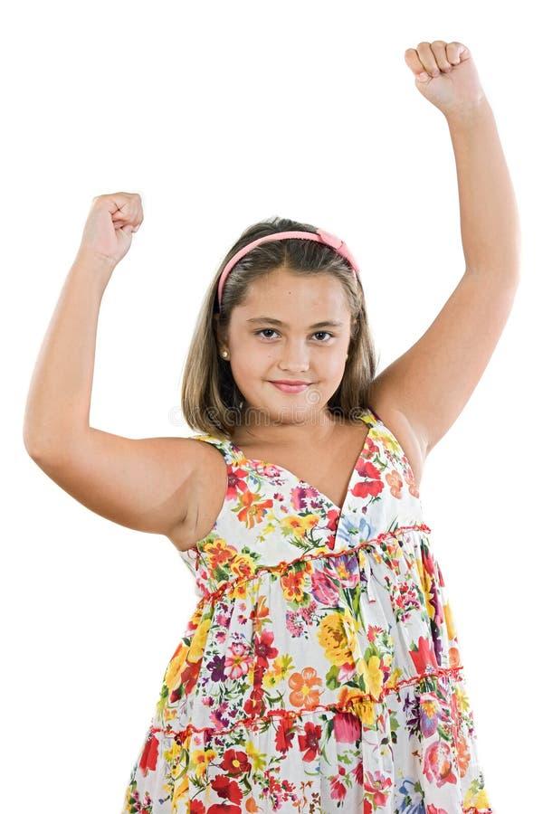 dziewczyna zwycięzca zdjęcia royalty free