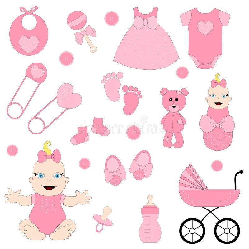 Dziewczynka, obrazy cyfrowi, dziecka clipart, ilustracja wektor