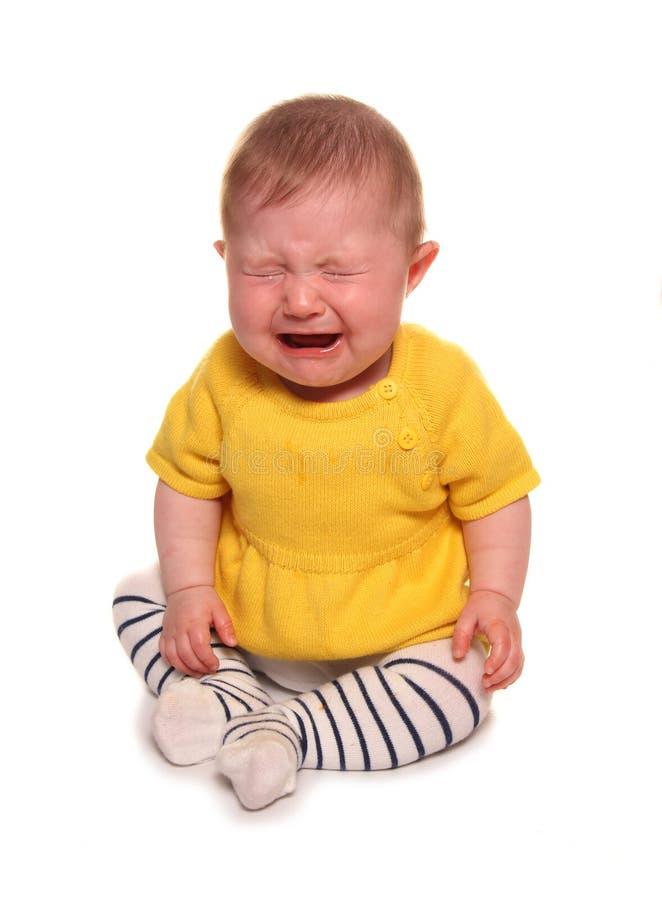 Dziewczynka płacz obrazy royalty free