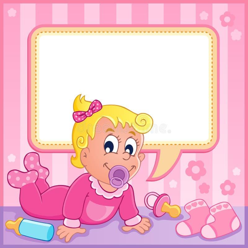 Dziewczynka tematu wizerunek (1) ilustracja wektor