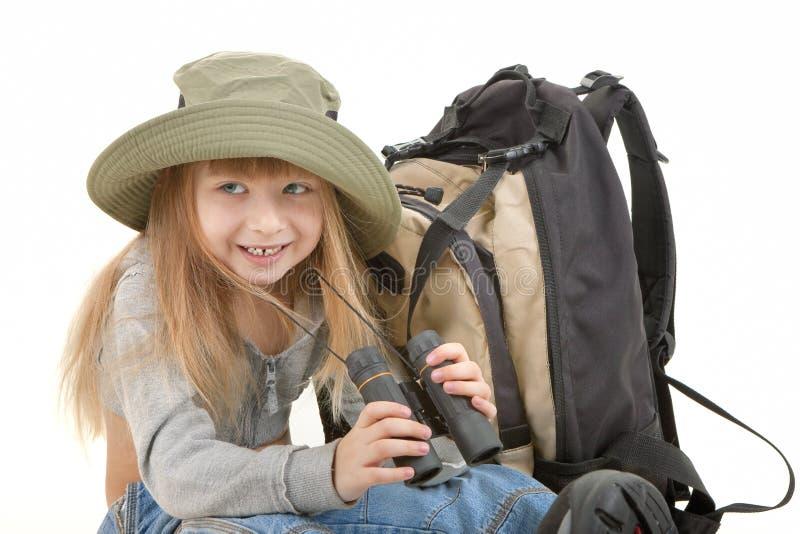 Download Dziewczynka turysta obraz stock. Obraz złożonej z śliczny - 13325817