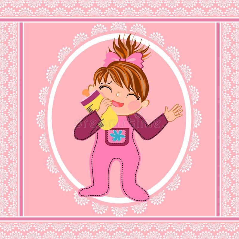 Dziewczynki śliczna kreskówka ilustracja wektor