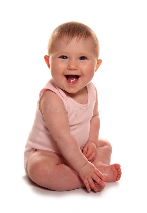 Dziewczynki śmiać się zdjęcia stock