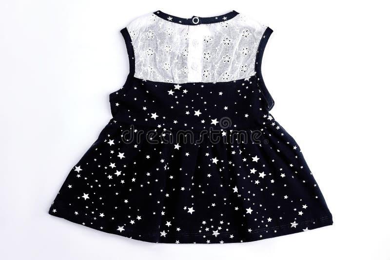 Dziewczynki biała i czarna suknia obrazy stock
