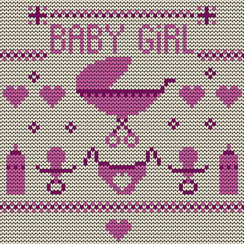 Dziewczynki Trykotowy tło ilustracja wektor
