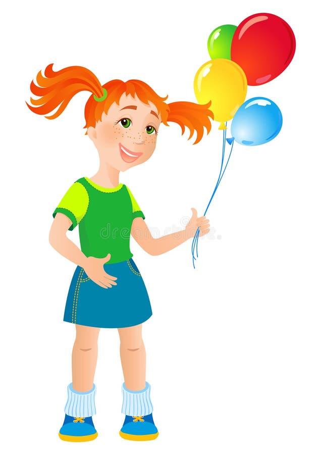 dziewczynko ilustracja wektor
