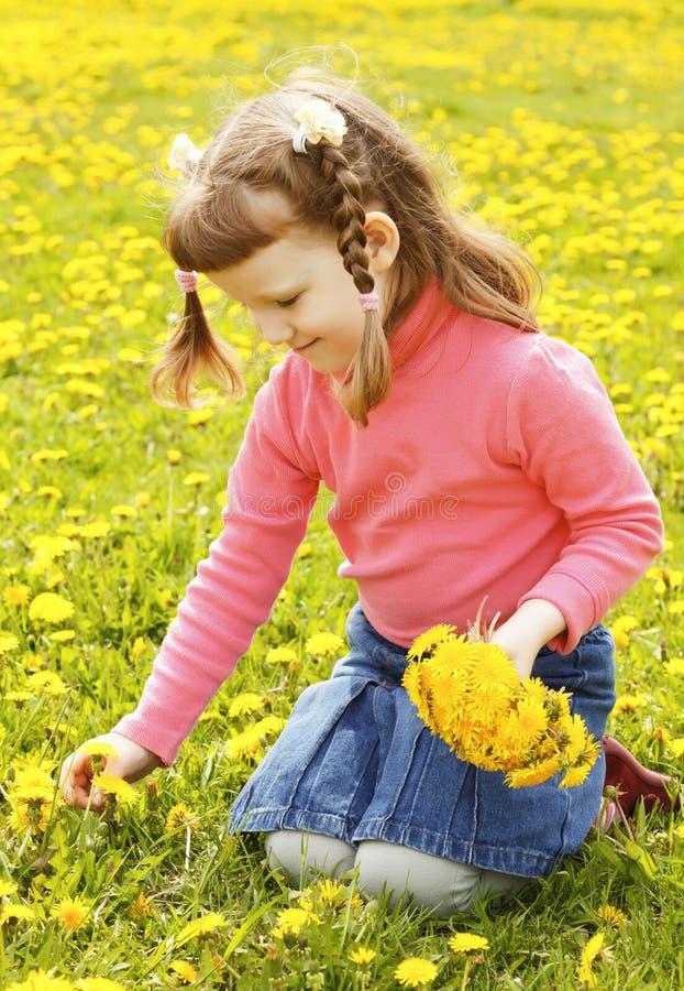 dziewczyny łąka obraz stock