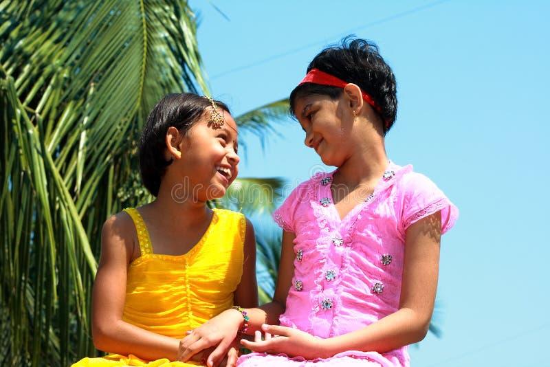 dziewczyny ładni dwa zdjęcia royalty free