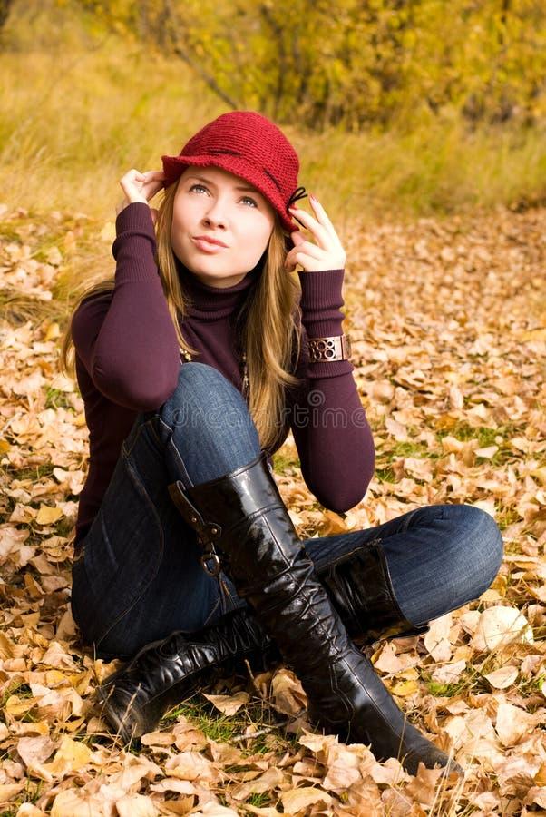 dziewczyny ładny parkowy fotografia stock