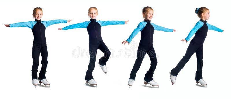 Dziewczyny łyżwiarka na lodzie zdjęcie stock
