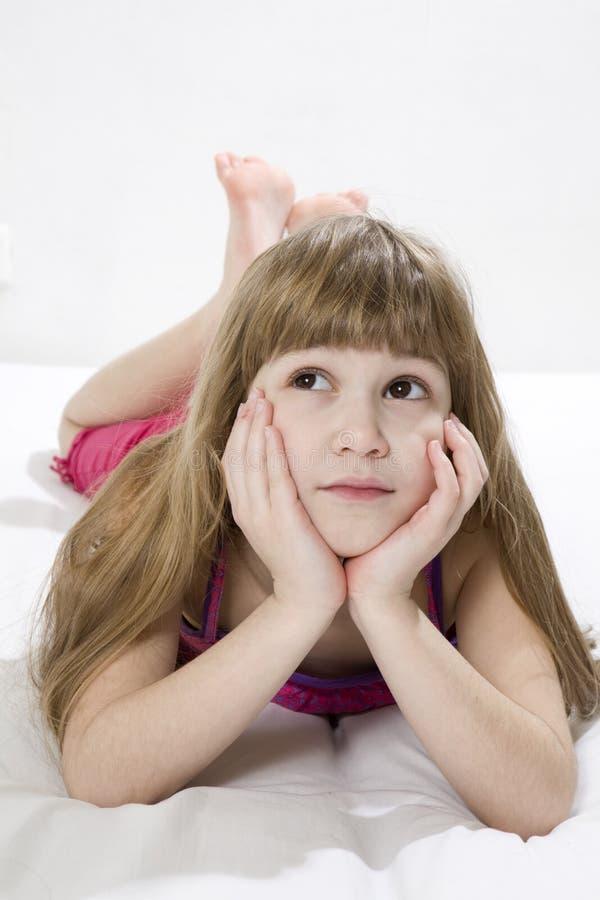 dziewczyny śliczny robi joga fotografia stock