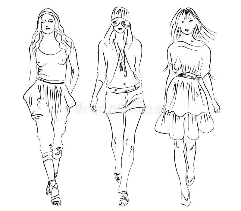 dziewczyny ilustracja wektor