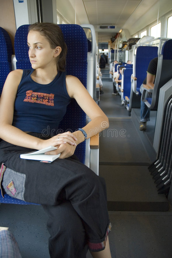 dziewczyny 8 pociąg zdjęcie royalty free