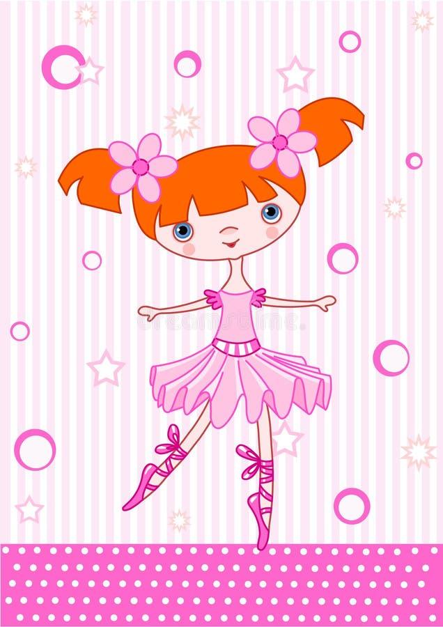 dziewczyny baletnicza czerwień ilustracji