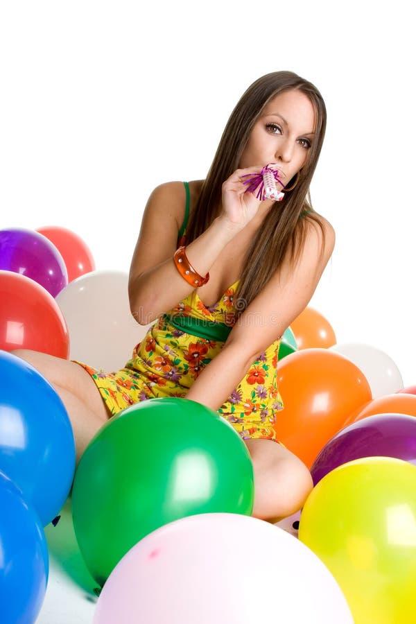 dziewczyny balonowy strona zdjęcie royalty free