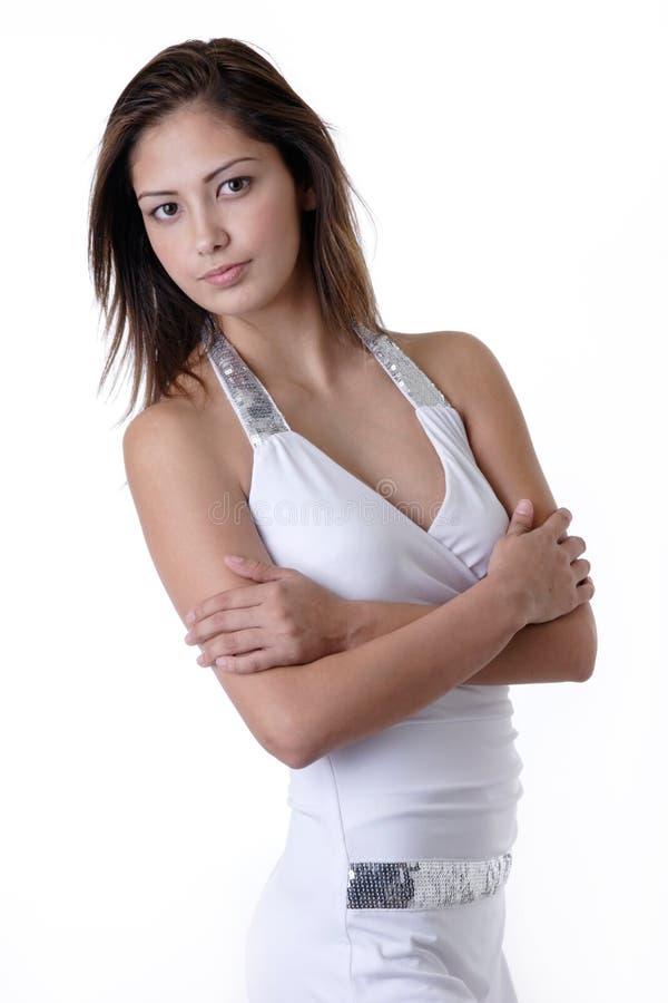 dziewczyny biały young mody zdjęcie royalty free