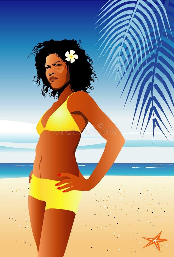 dziewczyny bikini lato royalty ilustracja