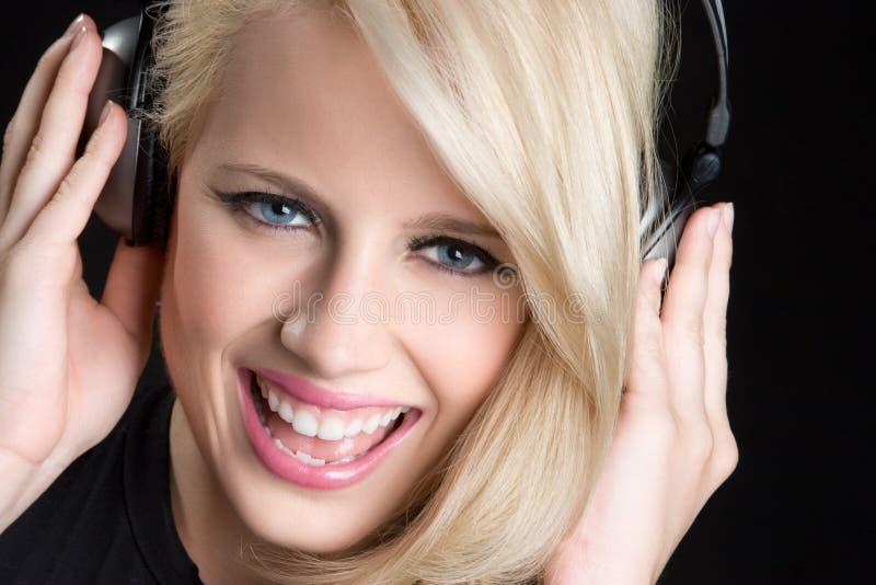 dziewczyny blond muzyka zdjęcie stock