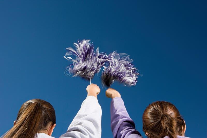 Dziewczyny cheerleading obraz royalty free