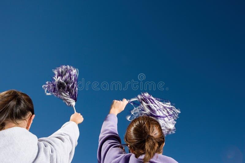 Dziewczyny cheerleading fotografia stock